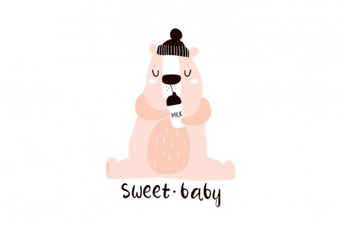 Картина Медведь с молоком