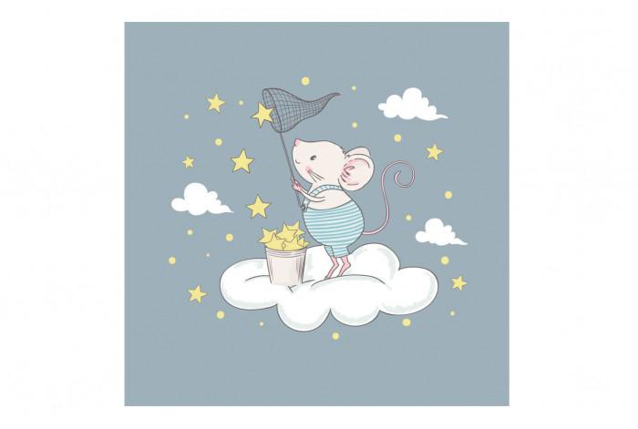Картина Мышка на облаке