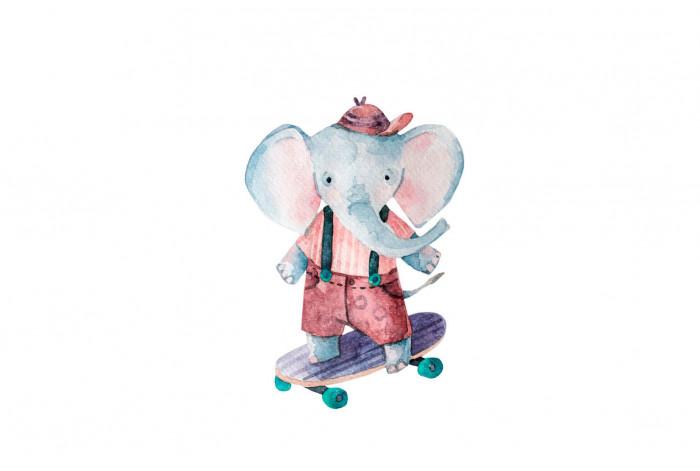 Картина Слоник на скейте